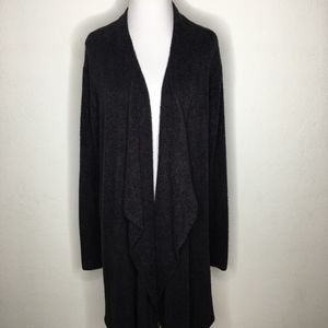 Barefoot Dreams Long Open Cardigan Black Size L XL